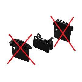 Disc Ersatz Bremsbelag DBP-17C COOLING FIN für SHIMANO XTR M965/966/Saint M800/Hone M-601/Deore XT M765/LX M858