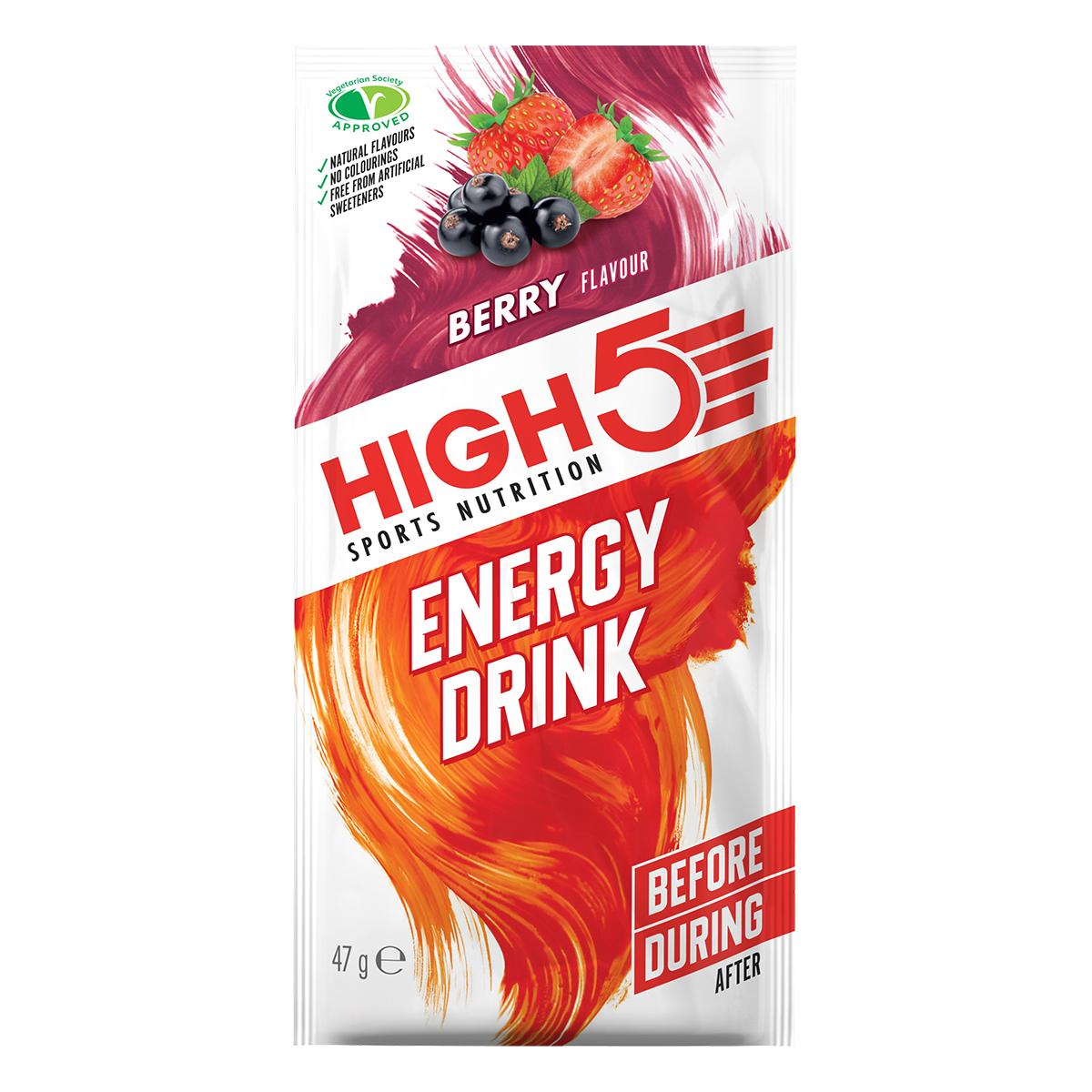HIGH5 Energy Drink 12x47g Stk. Pack Beere (EnergySource Sommerfrüchte)