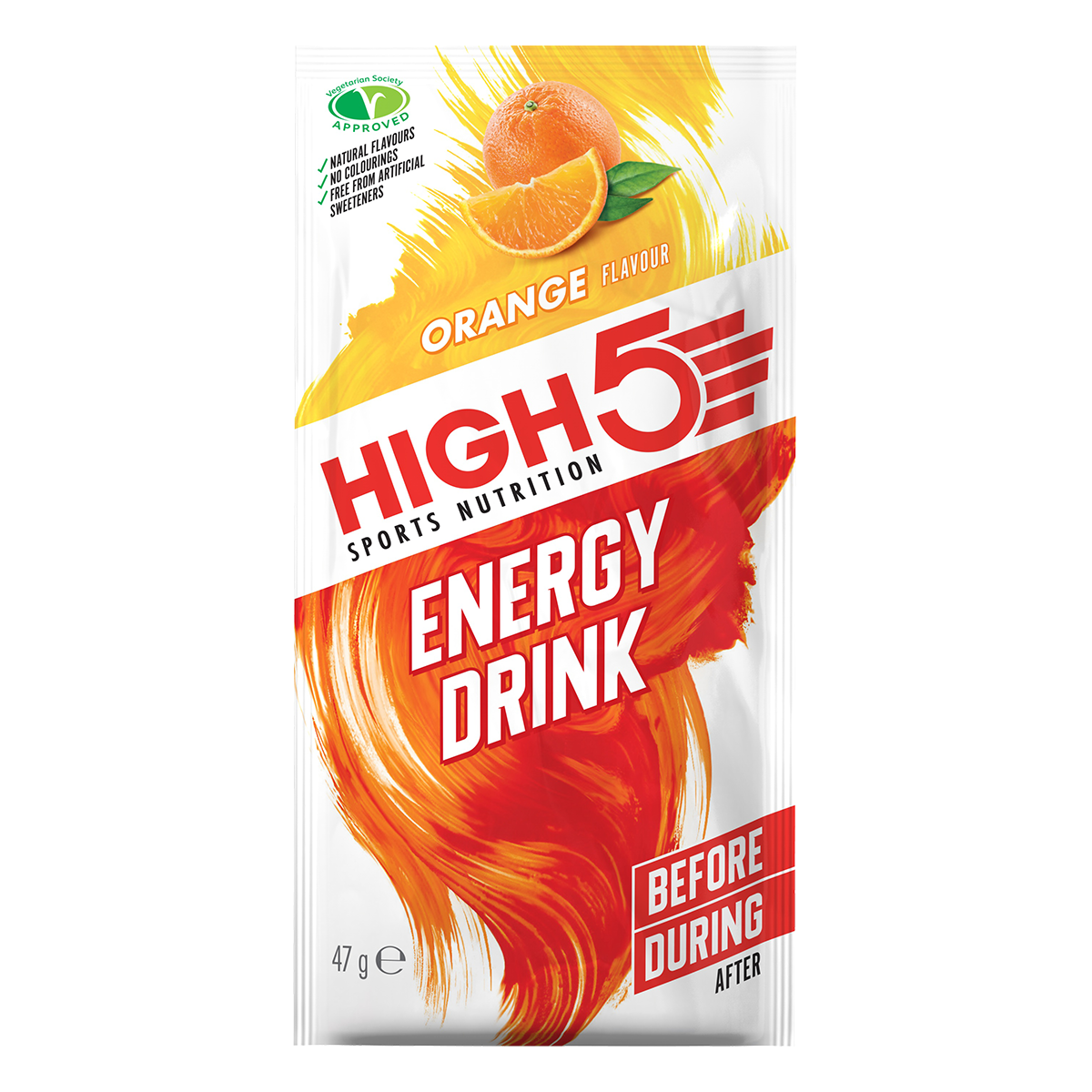 HIGH5 Energy Drink 12x47g Stk. Pack Orange (EnergySource)