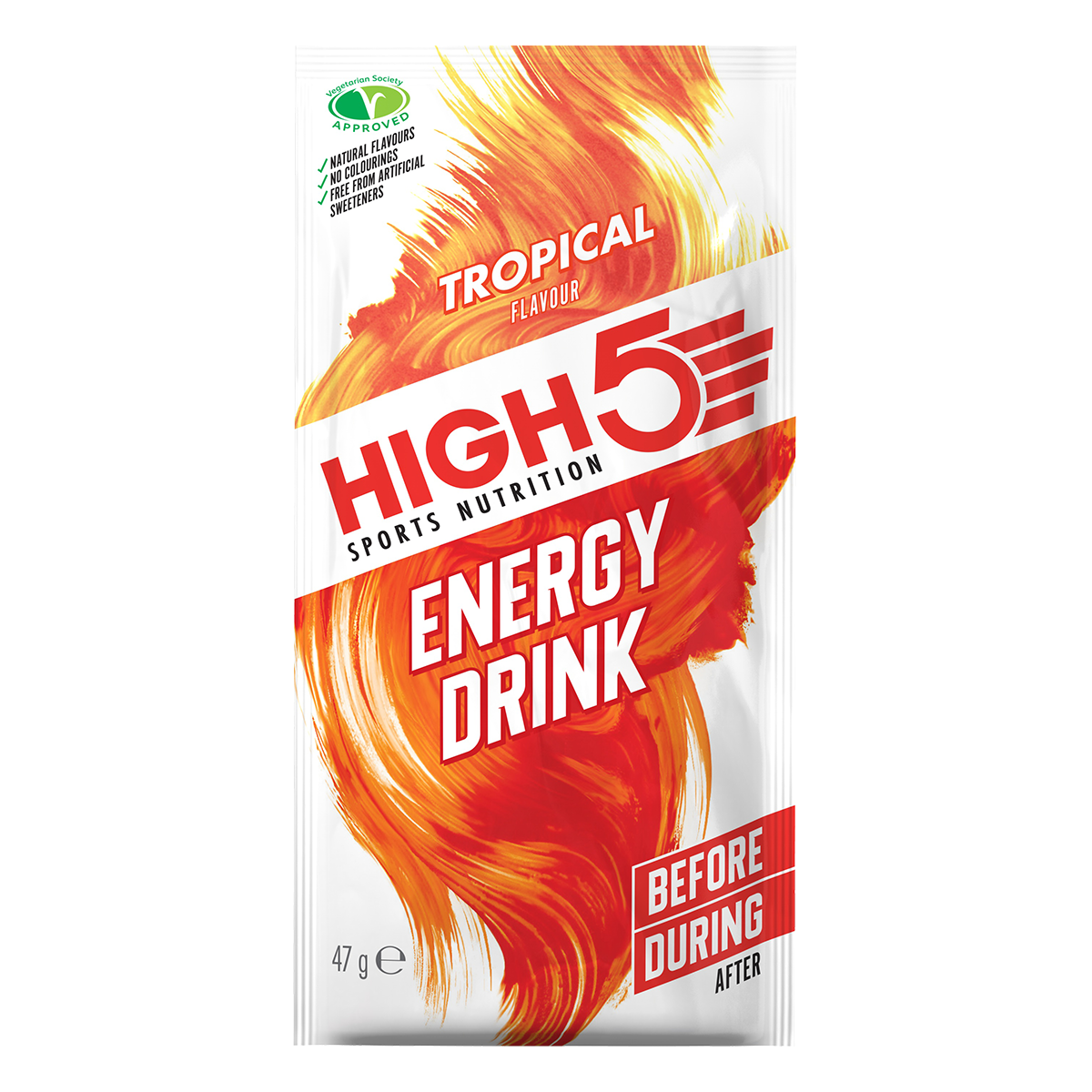 HIGH5 Energy Drink 12x47g Stk. Pack Tropical (EnergySource)