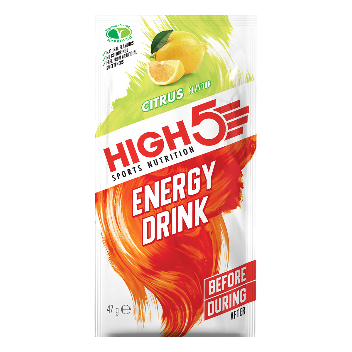HIGH5 Energy Drink 12x47g Stk. Pack Zitrone (EnergySource)