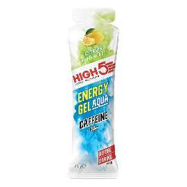 HIGH5 Energy Gel Aqua Koffein 20x66g Stk. Pack Zitrone (IsoGel+Koffein)