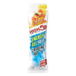 HIGH5 Energy Gel Aqua Koffein Hit 20x66g Stk. Pack Tropical (IsoGel Xtrem)