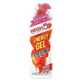 HIGH5 Energy Gel Koffein 20x40g Stk. Pack Himbeere (EnergyGel+Koffein)