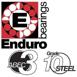 Industrielager 1616 2RS, 12,7x25,6x10x1mm, ABEC-3