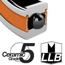 Industrielager 6001 2RS, 12x28x8mm, CERAMIC HYBRID ABEC-5