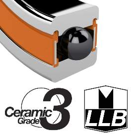 Industrielager MR18307 2RS, 18x30x7mm, ZERO CERAMIC