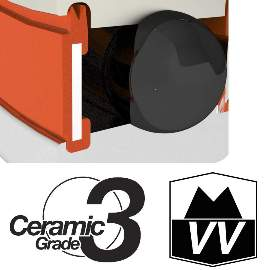 Industrielager MR27537 2RS, 27,5x37x7mm, ZERO CERAMIC