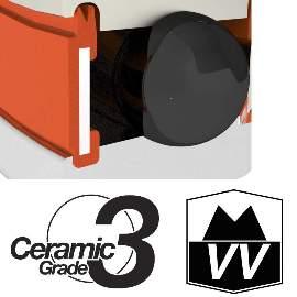 Industrielager R6 2RS, 9,5x22,2x7mm, ZERO CERAMIC