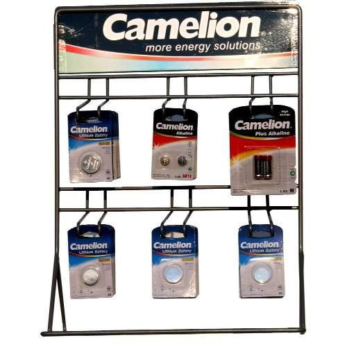 CAMELION VorteilsSet: 86 Knopfzellen sortiert + kostenloses Thekendisplay