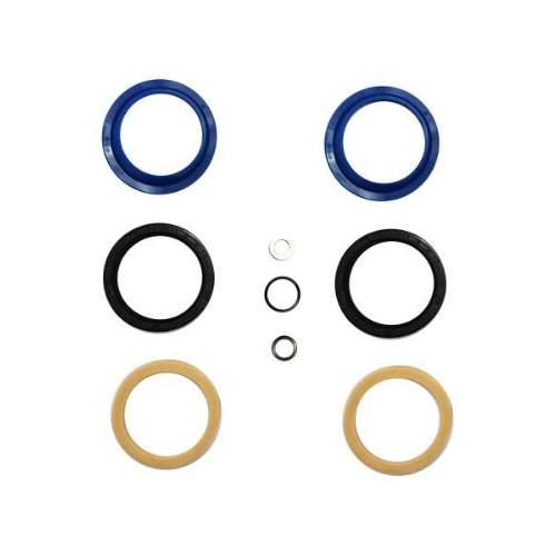 Enduro Bearings Gabel Dichtsatz FOX 34mm, FK-6654Enduro Bearings entwickelte und entwarf Polyurethan  Dichtungen für Mountainbike-Gabeln. Standard Dichtungen verlieren schnell an Geschmeidigkeit udn Performance durch Schmutz und Verschleiß. Enduro Bearings blaue Polyurethan Dichtungen lösen diese Probleme, verbessern die Performance und bieten ein gutes Ansprechverhalten über einen langen Zeitraum, ohne langwieriger Wartung. Enduro Bearings Dichtungen dichten besser, gleiten besser, gleiten ruhiger als original Dichtungen. Innere Dichtungen Moly -Disulfid gefettet, für noch besseres Ansprechverhalten.  Verfügbar für die meisten Federgabel Marken und Federgabel Modelle als günstiges Upgrade jeder Gabel.  Hersteller: FOX Innendurchmesser: 34mm Außendurchmesser: 44mm  Packungsinhalt: • 2x Staubabstreifer • 2x Öl Dichtung • 2x Foam Ring • 1x Unterlegscheibe • 2x Dichtring