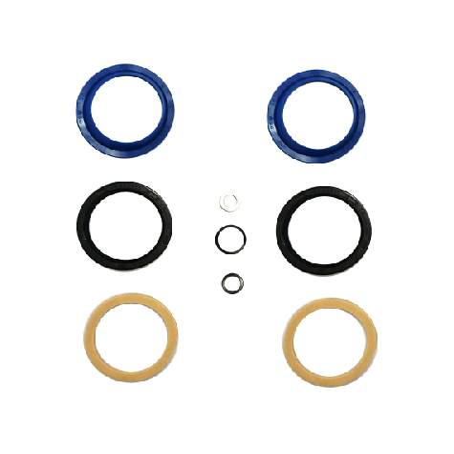 Enduro Bearings Gabel Dichtsatz FOX 36mm, FK-6652Enduro Bearings entwickelte und entwarf Polyurethan  Dichtungen für Mountainbike-Gabeln. Standard Dichtungen verlieren schnell an Geschmeidigkeit udn Performance durch Schmutz und Verschleiß. Enduro Bearings blaue Polyurethan Dichtungen lösen diese Probleme, verbessern die Performance und bieten ein gutes Ansprechverhalten über einen langen Zeitraum, ohne langwieriger Wartung. Enduro Bearings Dichtungen dichten besser, gleiten besser, gleiten ruhiger als original Dichtungen. Innere Dichtungen Moly -Disulfid gefettet, für noch besseres Ansprechverhalten.  Verfügbar für die meisten Federgabel Marken und Federgabel Modelle als günstiges Upgrade jeder Gabel.  Hersteller: FOX Innendurchmesser: 36mm Außendurchmesser: 46mm  Packungsinhalt: • 2x Staubabstreifer • 2x Öl Dichtung • 2x Foam Ring • 1x Unterlegscheibe • 2x Dichtring