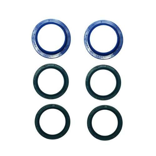 Enduro Bearings Gabel Dichtsatz ROCKSHOX 32mm, FK-6612Enduro Bearings entwickelte und entwarf Polyurethan  Dichtungen für Mountainbike-Gabeln. Standard Dichtungen verlieren schnell an Geschmeidigkeit udn Performance durch Schmutz und Verschleiß. Enduro Bearings blaue Polyurethan Dichtungen lösen diese Probleme, verbessern die Performance und bieten ein gutes Ansprechverhalten über einen langen Zeitraum, ohne langwieriger Wartung. Enduro Bearings Dichtungen dichten besser, gleiten besser, gleiten ruhiger als original Dichtungen. Innere Dichtungen Moly -Disulfid gefettet, für noch besseres Ansprechverhalten.  Verfügbar für die meisten Federgabel Marken und Federgabel Modelle als günstiges Upgrade jeder Gabel.  Hersteller: RockShox Modelle: Boxxer, Pike, Reba Innendurchmesser: 32mm Außendurchmesser: 42mm  Packungsinhalt: • 2x Staubabstreifer • 2x Satz mit unterschiedlichen Öl Dichtungen