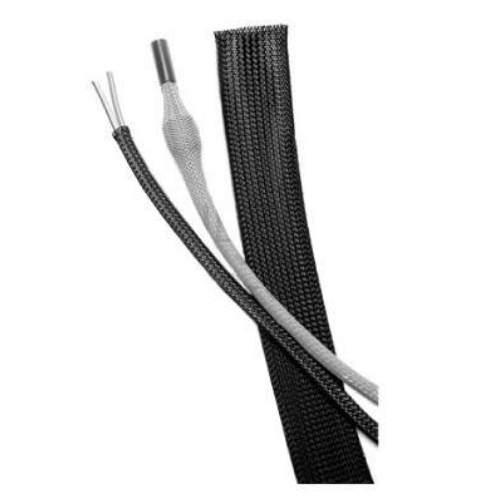 Geflechtschlauch schwarz, 1mm - 5mm, per Meter