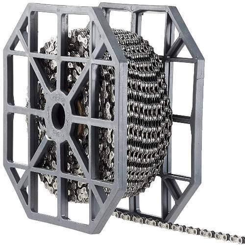 KMC X9 - silber/grau (X9-93), 9-fach Kette, 50m Rolle für ca. 40 Ketten, inkl. 40 Kettenschlösser