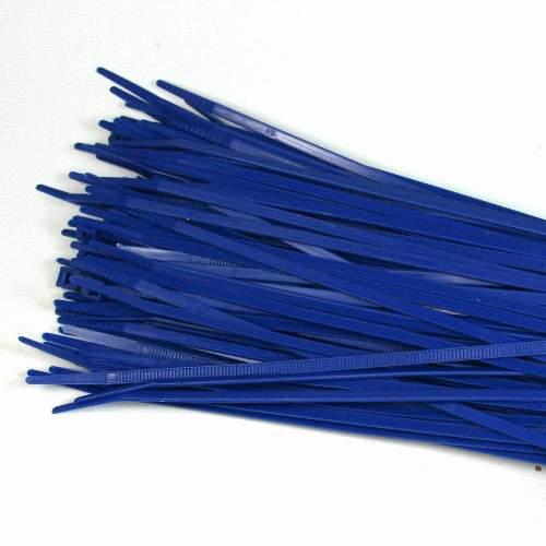 Kabelbinder 3,6 x 200mm, blau, 100 Stk Packung
