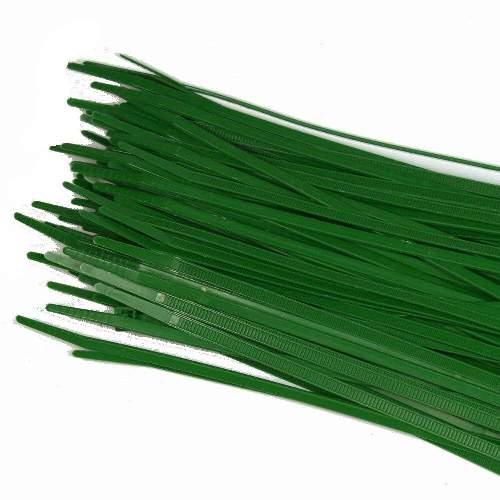 Kabelbinder 3,6 x 200mm, grün, 100 Stk Packung