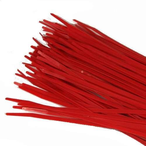 Kabelbinder 3,6 x 200mm, rot, 100 Stk Packung
