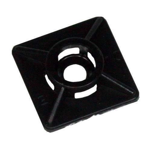 Klebesockel 19 x 19mm schwarz, 100 Stk. Packung
