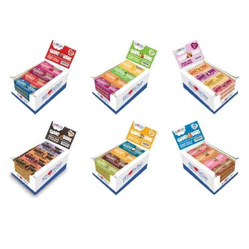MaBaker Giant Bar 6 Packungen Vorteilsset mit 24 Geschmacksrichtungen