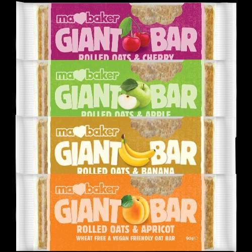 MaBaker Giant Bar Riegel 4x5x90g Stk. Pack Fruchtsorten gemischt